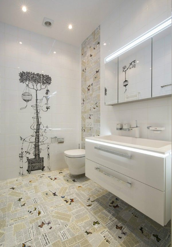 Quirky Bathroom Taupe Accents
