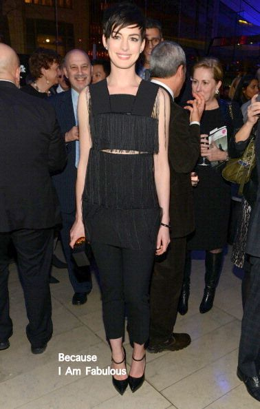 Fabulously Spotted: Anne Hathaway Wearing Calvin Klein Collection - Great American Songbook Event Honoring Bryan Lourd - http://www.becauseiamfabulous.com/2014/02/anne-hathaway-wearing-calvin-klein-collection-great-american-songbook-event-honoring-bryan-lourd/