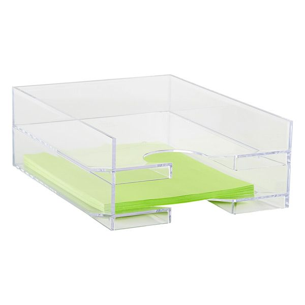 2 @ $14.99/each Clear Stacking Letter Tray - Container Store, Des Moines, IA