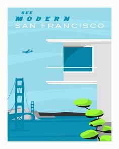 Forgotten Modernism - San Francisco Illustrations by Michael Murphy