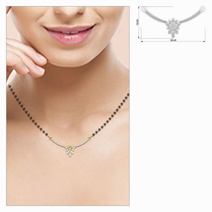 Damini Designer Diamond Mangalsutra #DiamondPendant