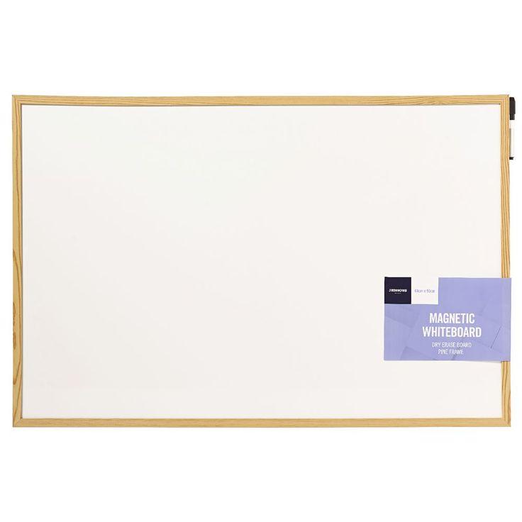 J.Burrows Timber Pine Whiteboard 60 x 90cm