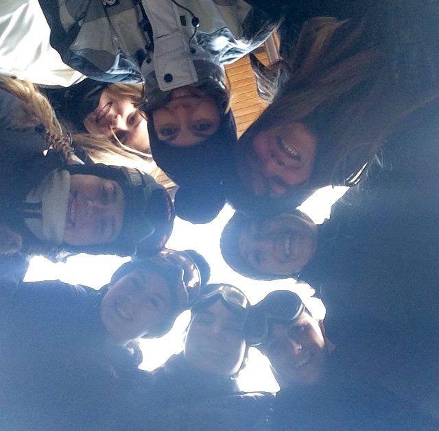 #selfie #snowboard #girls #AEvolutionSkiSchool #SkiareaCampiglio #Folgarida #ValdiSole #Trentino