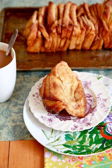 Cinnamon Sugar Pull-Apart Bread: Cinnamonsugar, Breads Recipes, Cinnamon Rolls, Sugar Pull Apartment, Cinnamon Breads, Cinnamon Sugar Breads, Pull Apartment Breads, Pullapart Breads, Sugar Pullapart