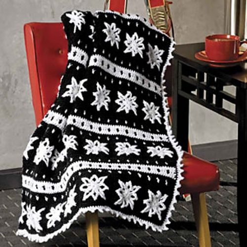 Inspiration :: Scandinavian Granny, pattern by Michele Maks in Crochet World Magazine, Fall 2010: Afghans! . . . . ღTrish W ~ http://www.pinterest.com/trishw/ . . . . #crochet #blanket #throw