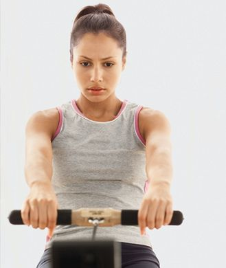 Pass by the crowd waiting for an elliptical and make a beeline for a rowing machine. You'll burn up to 50 percent more calories while strengthening nearly all the muscles from your shoulders to your