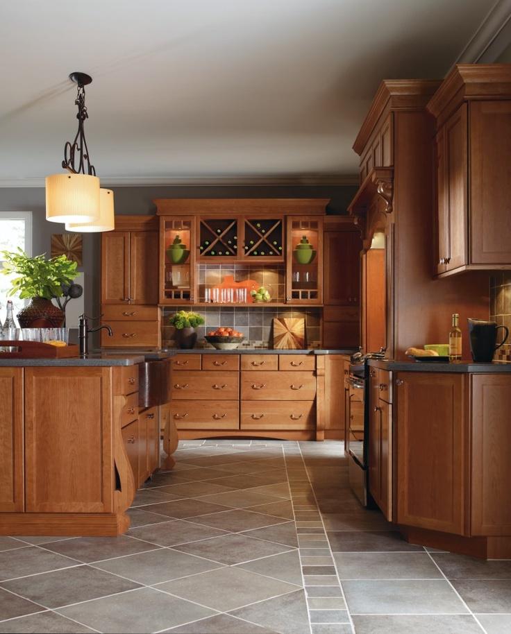 Cabbott Cherry Macaroon Kitchen By Thomasville Cabinetry.