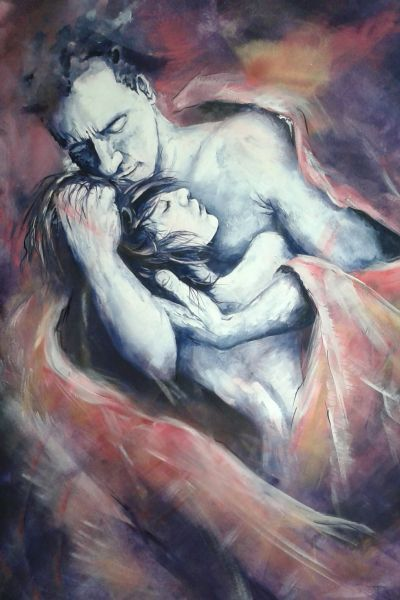 Paolo e Francesca - canto V inferno Divina Commedia - Opera d'arte ...