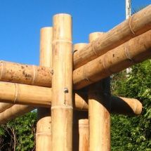 Uniones con bambú