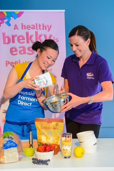 Celebrity chefs Poh Ling Yeow and Natalie Bode