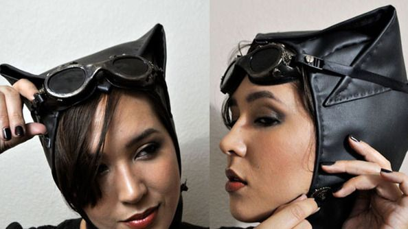 Holy Catwoman!   It's a steampunk tutorial with Allison Emm