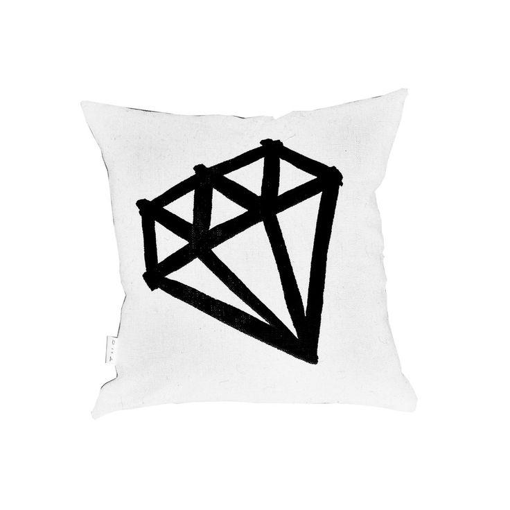 Mini Diamond Black on White