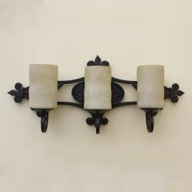 Spanish Wrought Iron Vanity Bath Bar Light