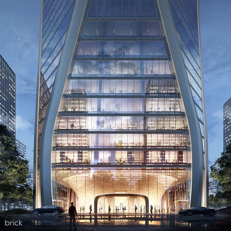 """Hangzhou Tower Architectural Visualization"""