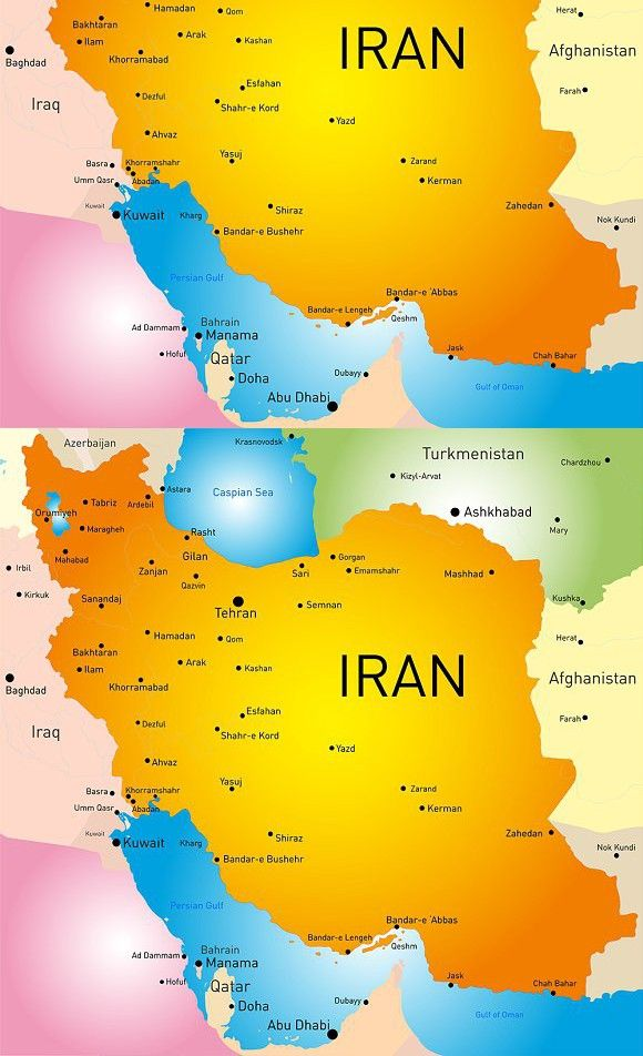 Map Of Iran Country Map Design Map Detailed Map