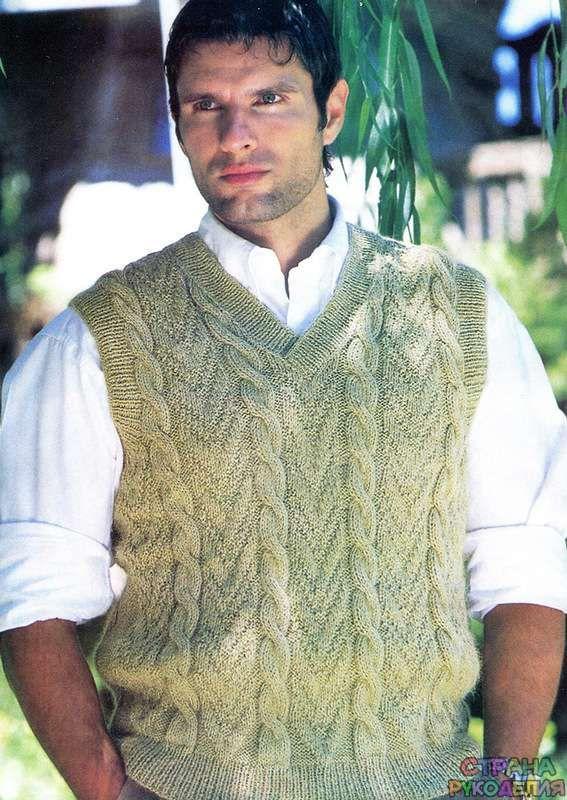 Жилет с косами - Свитера,пуловеры,куртки. - Страна рукоделия