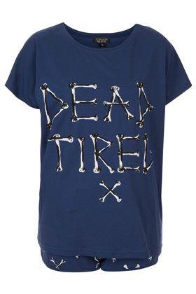 'Dead Tired' Pyjama Set