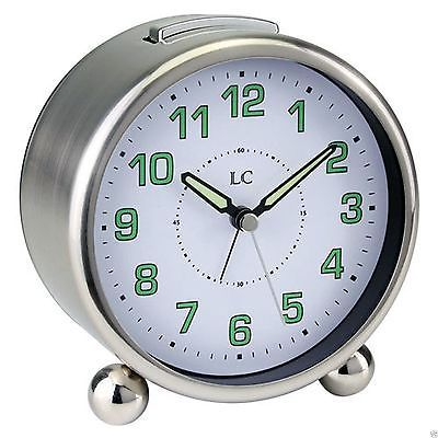 Traditional #round metal #alarm/bedside clock #luminous hands. london clock co.,  View more on the LINK: http://www.zeppy.io/product/gb/2/231876784484/