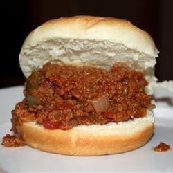 Dynamites:  recipe for this loose-meat sandwich filling from Rhode Island features green bell peppers and onion with canned tomato sauce, tomato paste, and diced tomatoes.