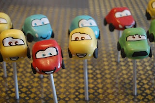 Cars cake pops