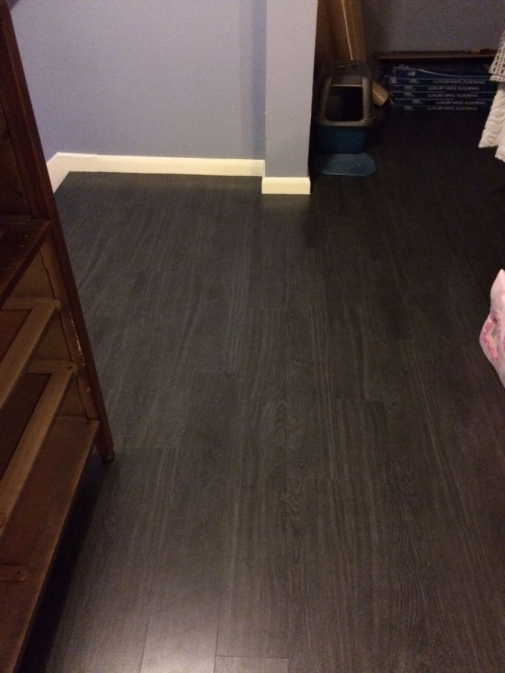 Dark gray waterproof vinyl laminate indoor projects for Waterproof bathroom flooring