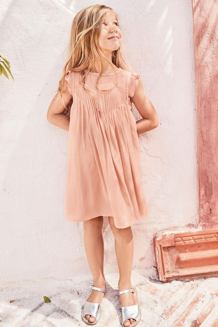 Pink Summer Pintuck Dress (3-16yrs) | Next USA