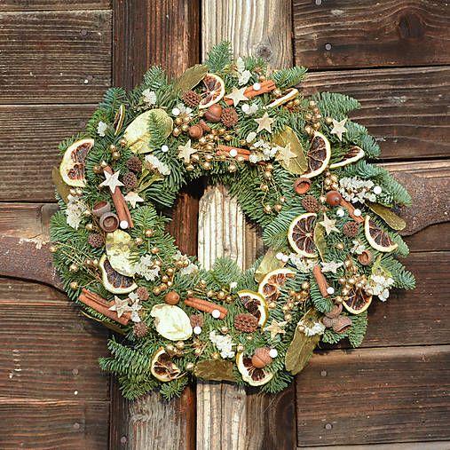 Hydrangea / Voňavý vianočný venček z jedličky