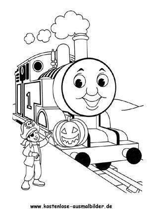 ausmalbild thomas die lokomotive | numeros para colorir