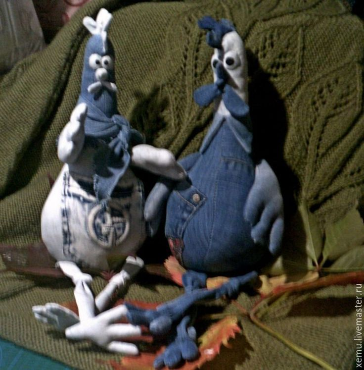Купить Петушок джинсовый - тёмно-синий, петушок, петушки, символ нового года, символ года