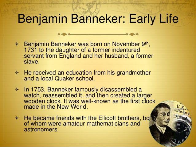 benjamin banneker | Benjamin Banneker - Early Life