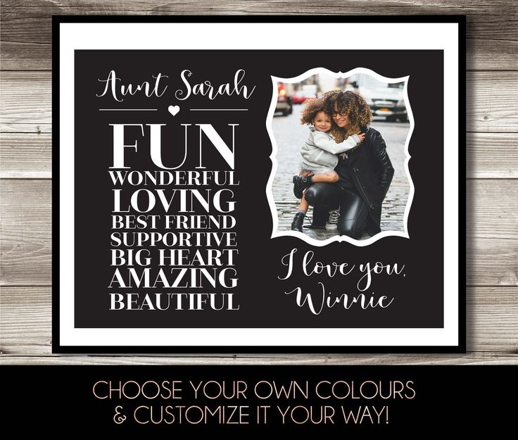 Aunt Photo Print, Gift for aunt, Digital Print, Aunt birthday gift, Special gift for Aunt by ForEvaPrints on Etsy
