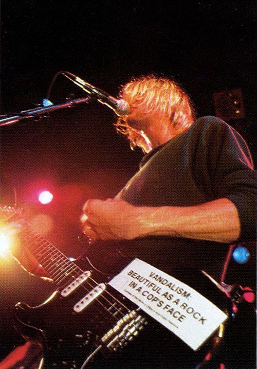 Vandalism: Beautiful as a rock in a cops face - Black Strat of Cobain's