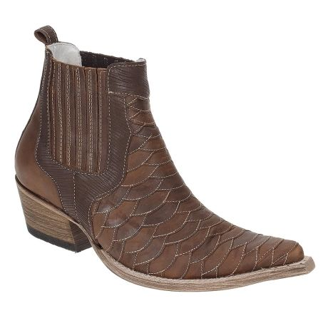 Compre West Country : Bota Texana Masculina Couro Marrom Cano Curto - West Country 15099 por R$279,92 - Rodeo West