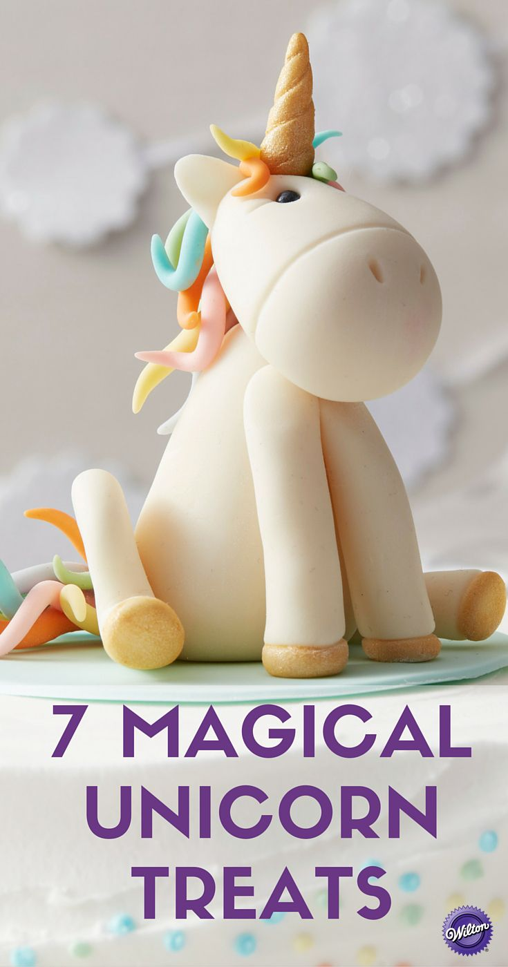7 Magical Unicorn Treats - Thinking of throwing a unicorn birthday party for someone special or requesting one for yourself? Here's a couple unicorn cake ideas and other treats to spark your creativity.