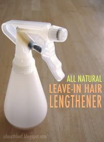 DIY All Natural Leave-in Hair Growth Treatment  I don't need this, but I know a few girls that this might be helpful for em!:)