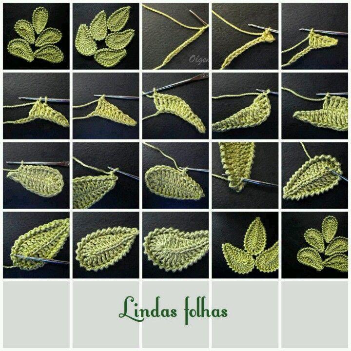 Crochet leaves (folhas), Irish Crochet leaves  Snejana..How do I translate the liveinternet.ru site?