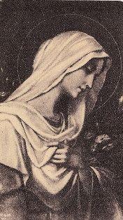 Vintage Prayer Card Virgin Mary Catholic by ChristmasAngels, $10.00
