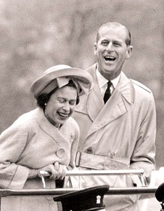 The Queen and her Duke, I absolutely love this picture of HH Queen and her Prince ... They are literally double over with giggling and raucous laughter! KMW