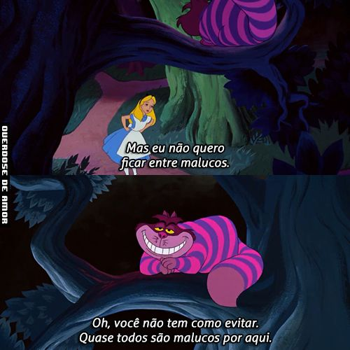 Tag Alice No Pais Das Maravilhas Gato Risonho Frases