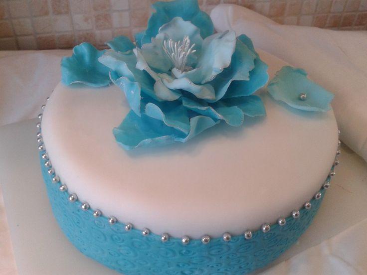Tyrkysový dort