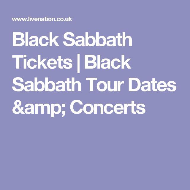 Black Sabbath Tickets | Black Sabbath Tour Dates & Concerts
