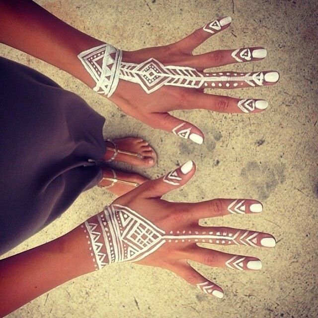 Bohemian hand in a tribal style