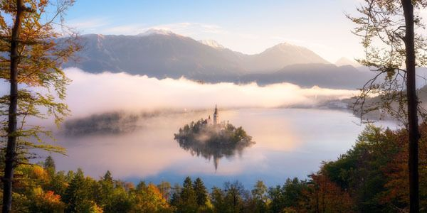 Autumn View. Top Ten, Open Nature / Landscapes. Bled Island stands in the middle of Lake Bled in northwestern Slovenia.    © Daniel Fleischhacker