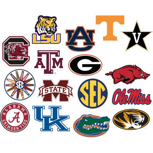 SEC Logo Collection Geaux Tigers College football logos, Nfl