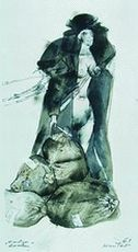 """""""Dead Woman"""", from the series entitled """"Dummy People,"""" 1961, the Museum of Fine Arts in Łódź"""