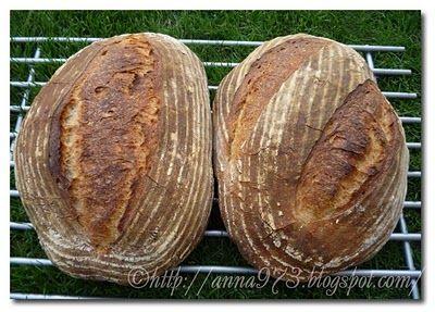 Хлеб на двух заквасках - Pain au Levain with Mixid Sourdough Starter   Выпечка хлеба и не только...