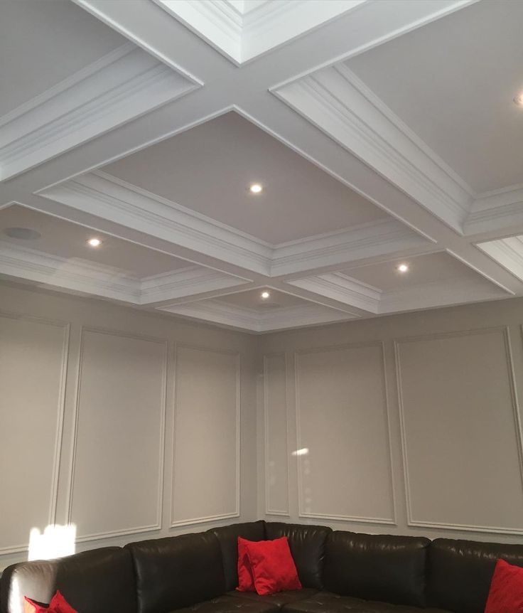 Better Home Accents Renovation on Instagram: Waffle Ceiling and Panel walls!!...