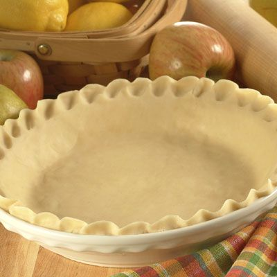 Homemade Pie Crust Recipe | Meals.com - Get fancy in the kitchen this fall with our no-fail pie crust recipe. It's easy to make, and we bet you have the ingredients on hand! Tip: Be sure to use cold water and keep well-wrapped until ready to use. #fallbaking #pie #thanksgiving