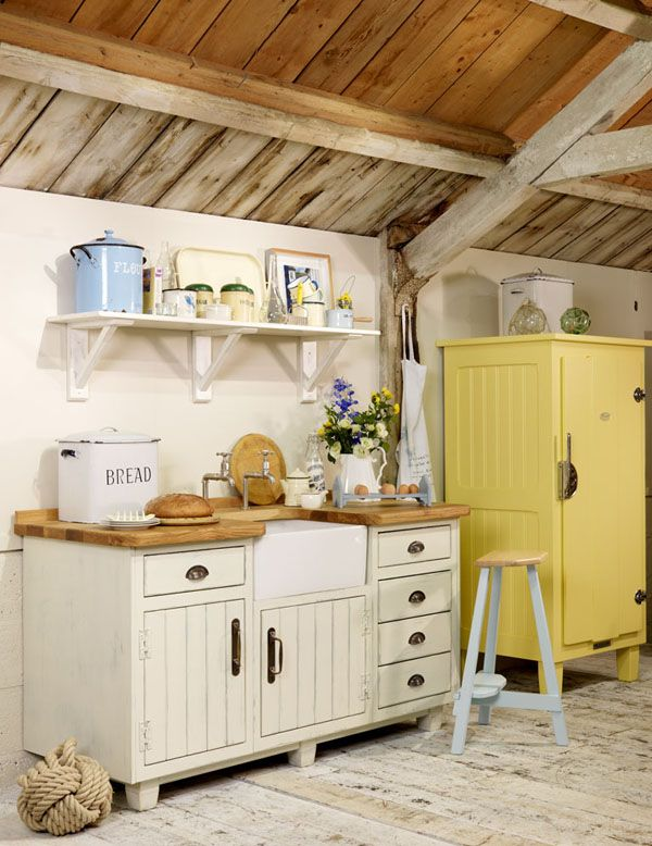 Rustic Country Kitchens Yellow