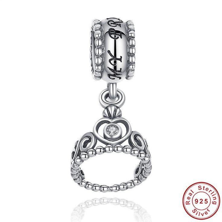 La mia Principessa My Princess Dangle Charm Fit 100% argento sterling  925 adatta a Pandora Charms Pandora Beads e braccialetto europeo S014 di OceanBijoux su Etsy